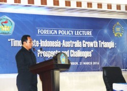 """BPPK Kemlu RI """"gandeng' UNPATTI, Gagas Foreign Policy Lecture PROSPECTS and CHALLENGES: Timor Leste-Indonesia-Australia Growth Triangle (TIA-GT)"""