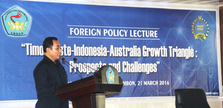 "BPPK Kemlu RI ""gandeng' UNPATTI, Gagas Foreign Policy Lecture PROSPECTS and CHALLENGES: Timor Leste-Indonesia-Australia Growth Triangle (TIA-GT)"