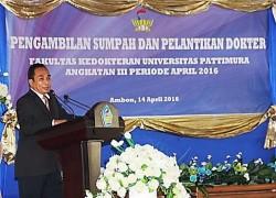 Pengambilan Sumpah dan Pelantikan 14 lulusan dokter Angkatan III 2016 FK-UNPATTI