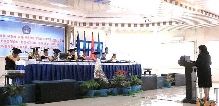 Promovendus Pertama Program Doktor Ilmu Hukum UNPATTI, S.S. Alfons.